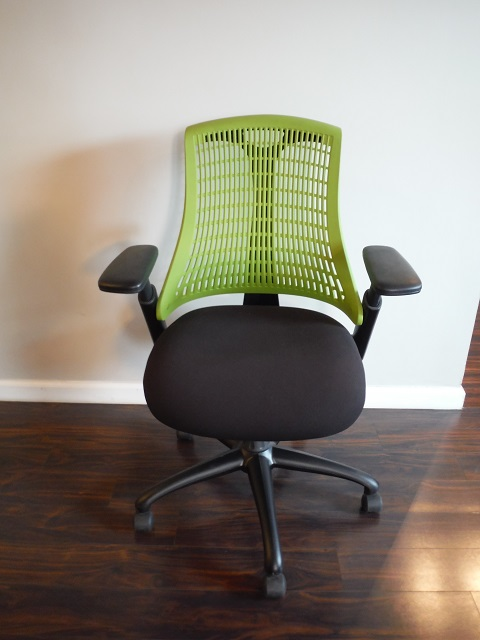 At The Office 10 Series Task Chair Green Black Office