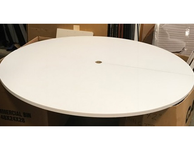 Round Conference Table White Laminate Office Furniture Albany NY - White laminate conference table