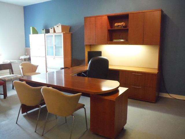 Gunlocke U Desk Solid Wood Office Furniture Albany Ny