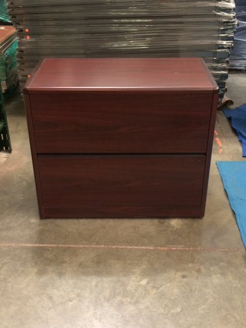 Hon Lateral File Free Standing Storage Mahogany Office