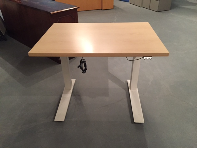 Haworth Height Adjustable Table White Office Furniture Albany NY - Haworth conference table