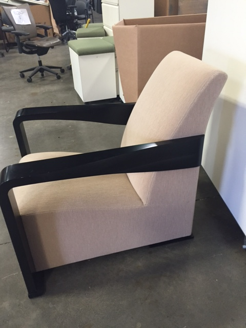 Hugues Chavelier Yin Reception Room Chair Tan Office
