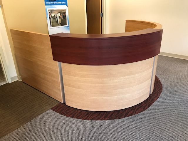 Logiflex Reception Desk Chicago Logiflex Inbox L Shaped