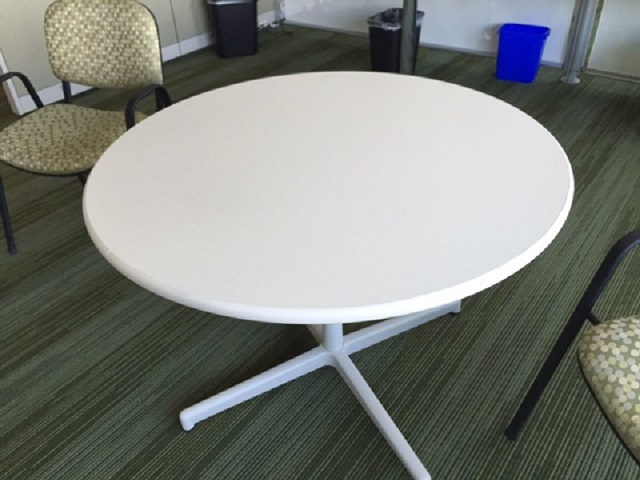Steelcase Round Tables Vanadium Fiber Office Furniture