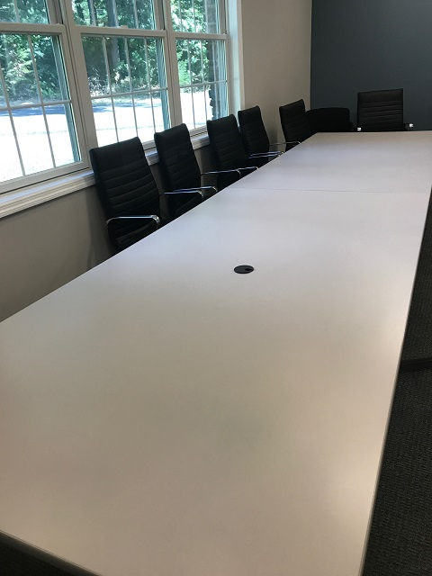 Round Conference Table White Laminate Office Furniture