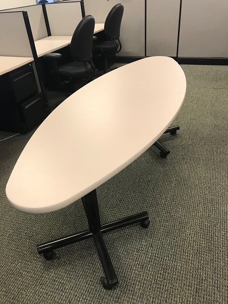 Oval Mobile Conference Table Office Furniture Albany NY - Mobile conference table